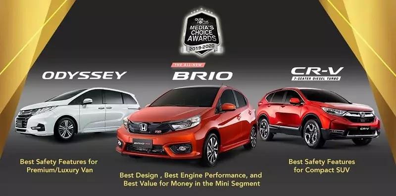 Honda Receives Five Awards from the 2019-2020 Auto Focus Media Choice Awards