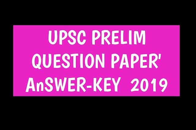 DOWNLOAD: Question Paper - UPSC Civil Services Preliminary Exam - 2019-www.studyonlinegk.com||DOWNLOAD: QUESTION PAPER – UPSC CIVIL SERVICES PRELIMINARY EXAM – 2019
