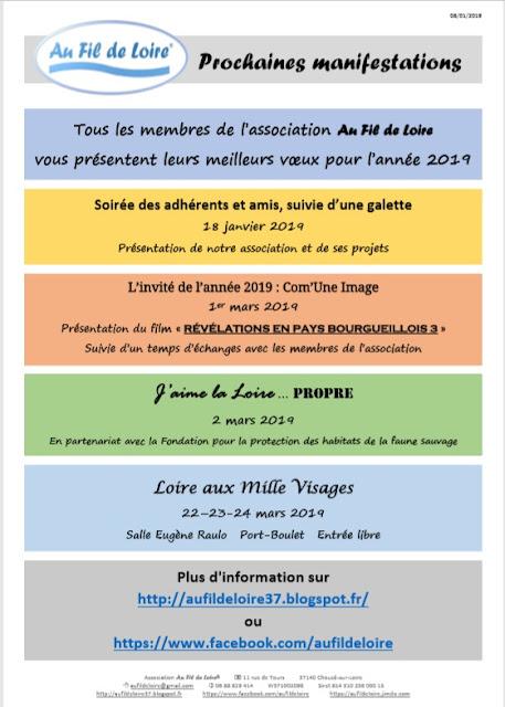 Programme 1er trimestre 2019 Association Au Fil de Loire