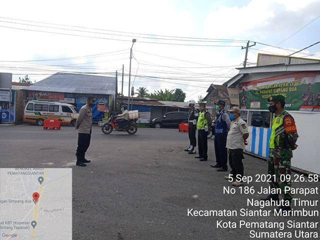 Gabungan Personel Jajaran Kodim 0207/Simalungun Bersama Dinas Terkait laksanakan Ops PPKM Level lV