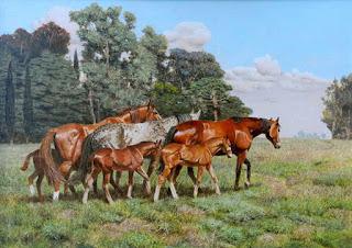 pinturas-de-corceles-realismo-en-pintura cuadros-oleo-caballos