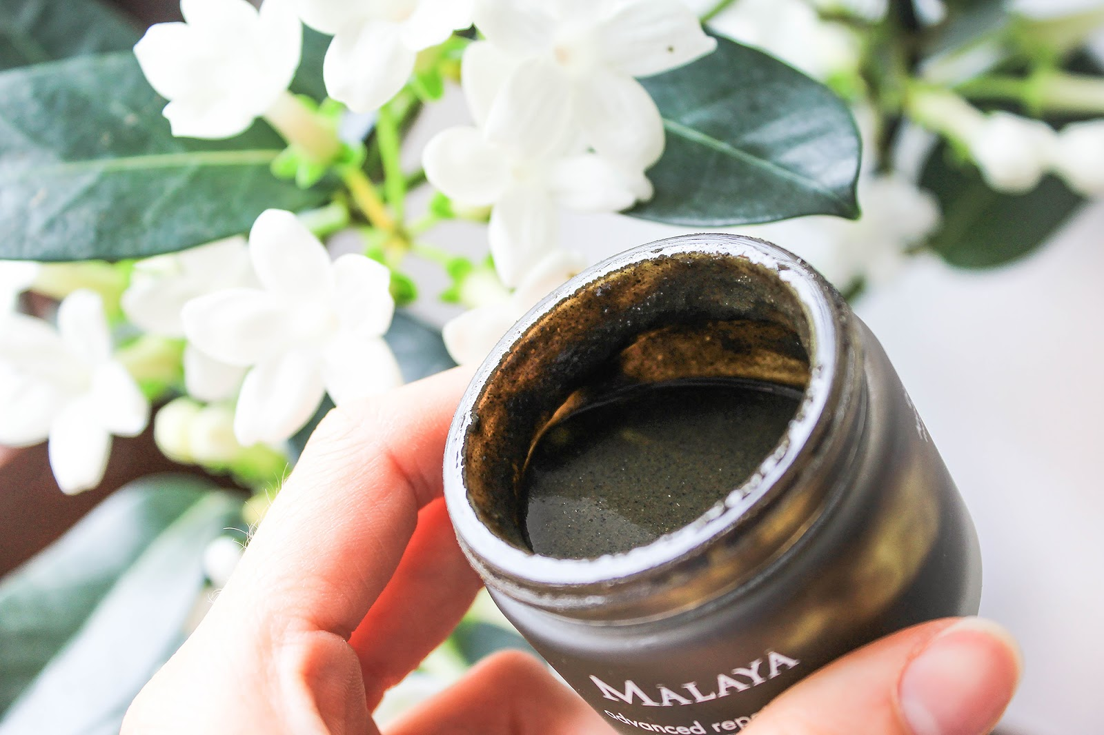 Malaya Organics Advanced Repair Mask Neem Honey Herbal Complex. Runny consistency, gritty