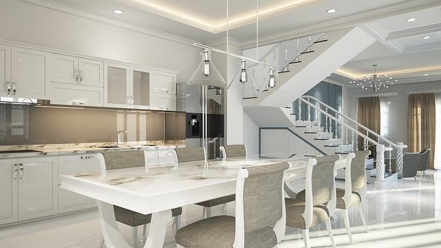 Interior Neoclassical Design Luxury 3d White