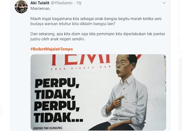 Ajak Boikot Tempo, Buzzer Jokowi Perlihatkan Kebodohan & Kedunguan