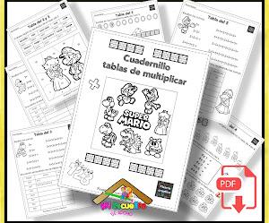 Tablas de multiplicar del 1 al 10 para niños