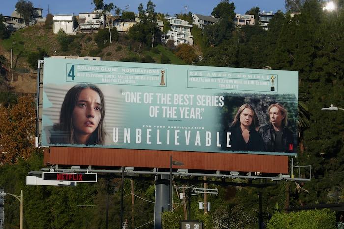 Unbelievable Golden Globe nominee billboard
