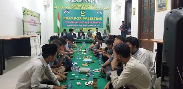 Para Pemuda Ini Doa Bersama dan Meminta Jokowi Datang Langsung Ke Al Aqsho