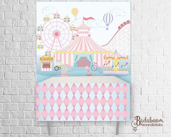 Circo, candy, menina, festa infantil, decoração, arte digital, kit digital, kit festa, arte personalizada