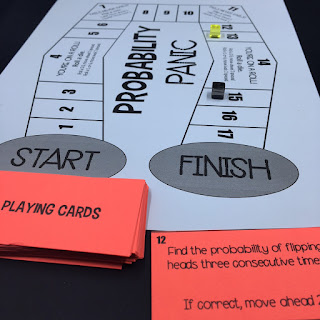 https://www.teacherspayteachers.com/Product/Probability-Panic-A-Math-Board-Game-3602696