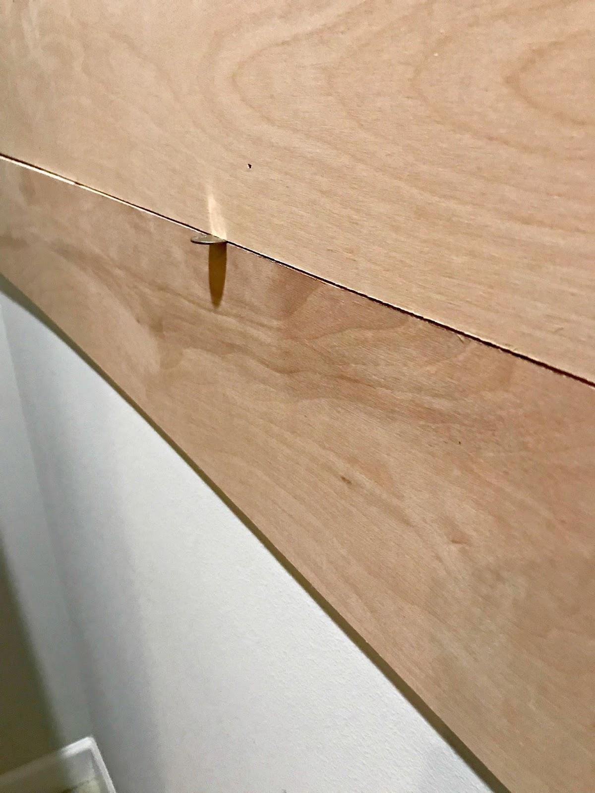 Easy way to space between wood planks