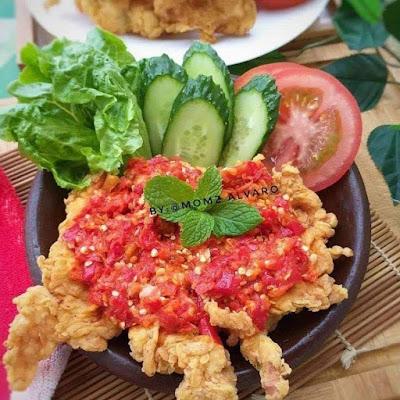 Resep Ayam Geprek Crispy Balado Super Pedas Enak