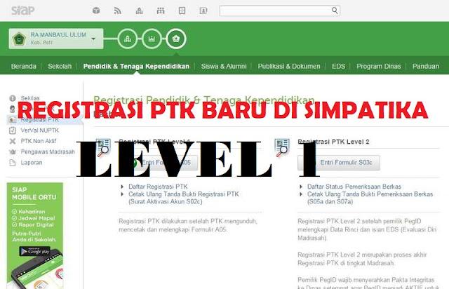 Registrasi PTK Level 1