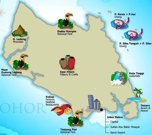 Senarai Lokasi Menarik Di Johor