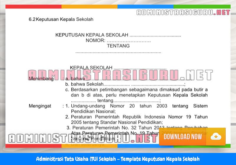 Contoh Format Keputusan Kepala Sekolah Administrasi Tata Usaha Sekolah Terbaru Tahun 2015-2016.docx