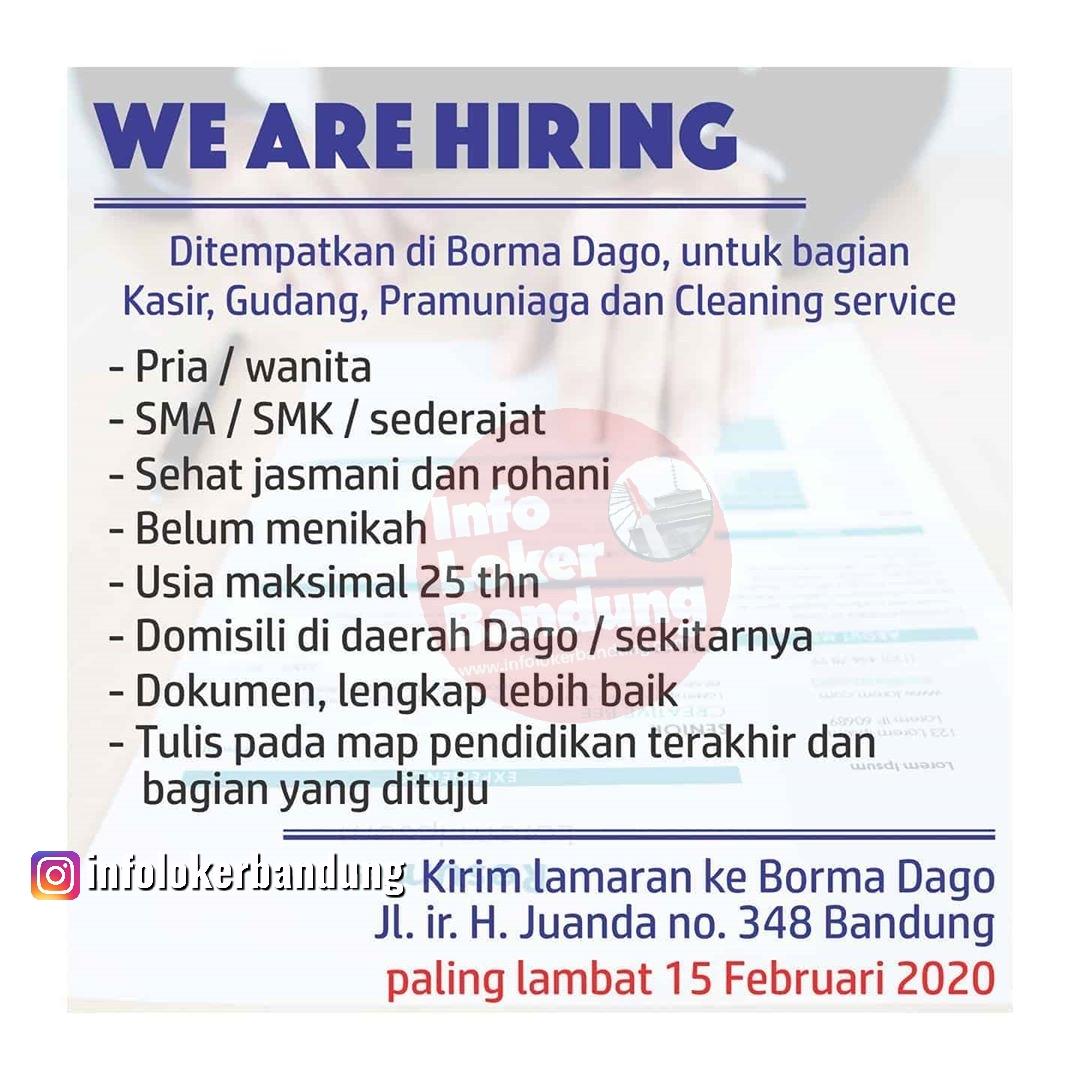 Lowongan Kerja Borma Dago Bandung Januari 2020
