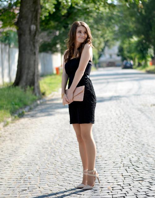 little black dress outfit ideas as wedding guest