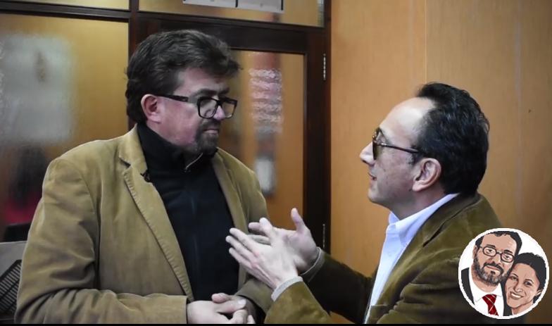 La entrevista de 12 minutos de Velarde a Ayo fue vista y comentada por Molina / MONTAJE/ FACEBOOK