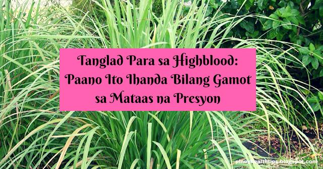 tanglad para sa highblood