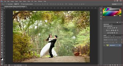 cara memotong gambar dengan crop tool