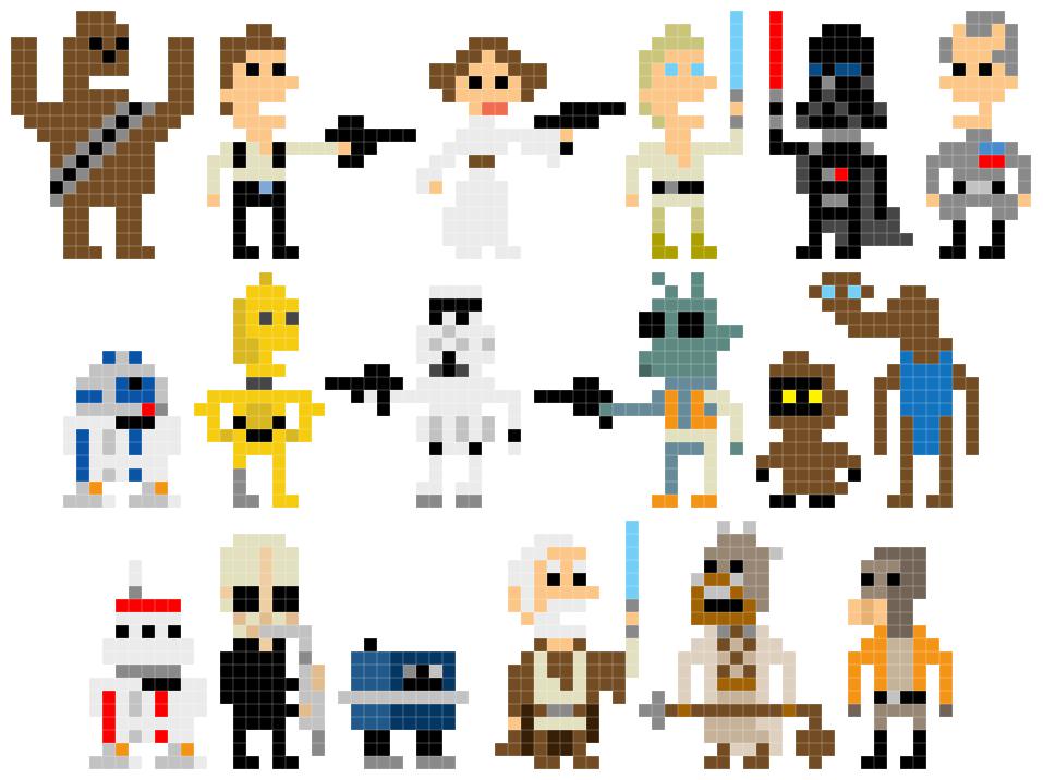 Minecraft Pixel Art Building Ideas The Star Wars Pixel Art