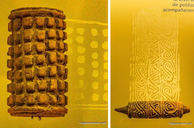 Rolos de cerâmica da Cultura Tumaco usados para pintura corporal