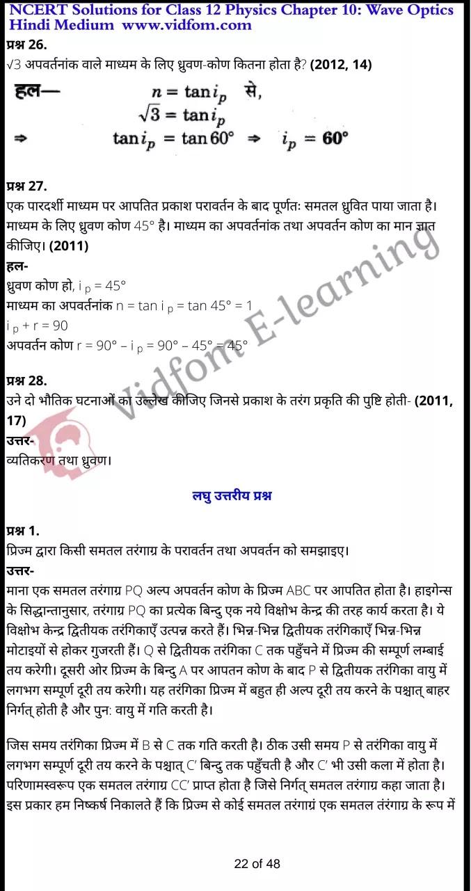 class 12 physics chapter 10 light hindi medium 22