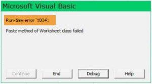 Runtime Error 1004 di Microsoft Excel