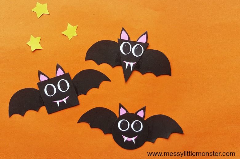Halloween bat shape craft