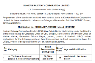 KRCL Junior Technical Assistant Previous Question Papers and Interview Questions