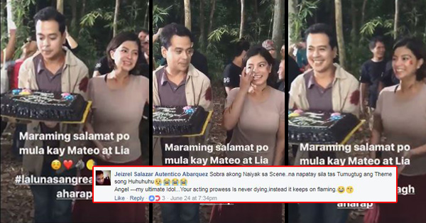 John Lloyd Cruz And Angel Locsin Celebrates Last Day On La Luna Sangre Set But Their Fans Are Not Happy About It!