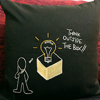 Cushion Cover- Hand Embroidery- Inspirational Quote Cushion