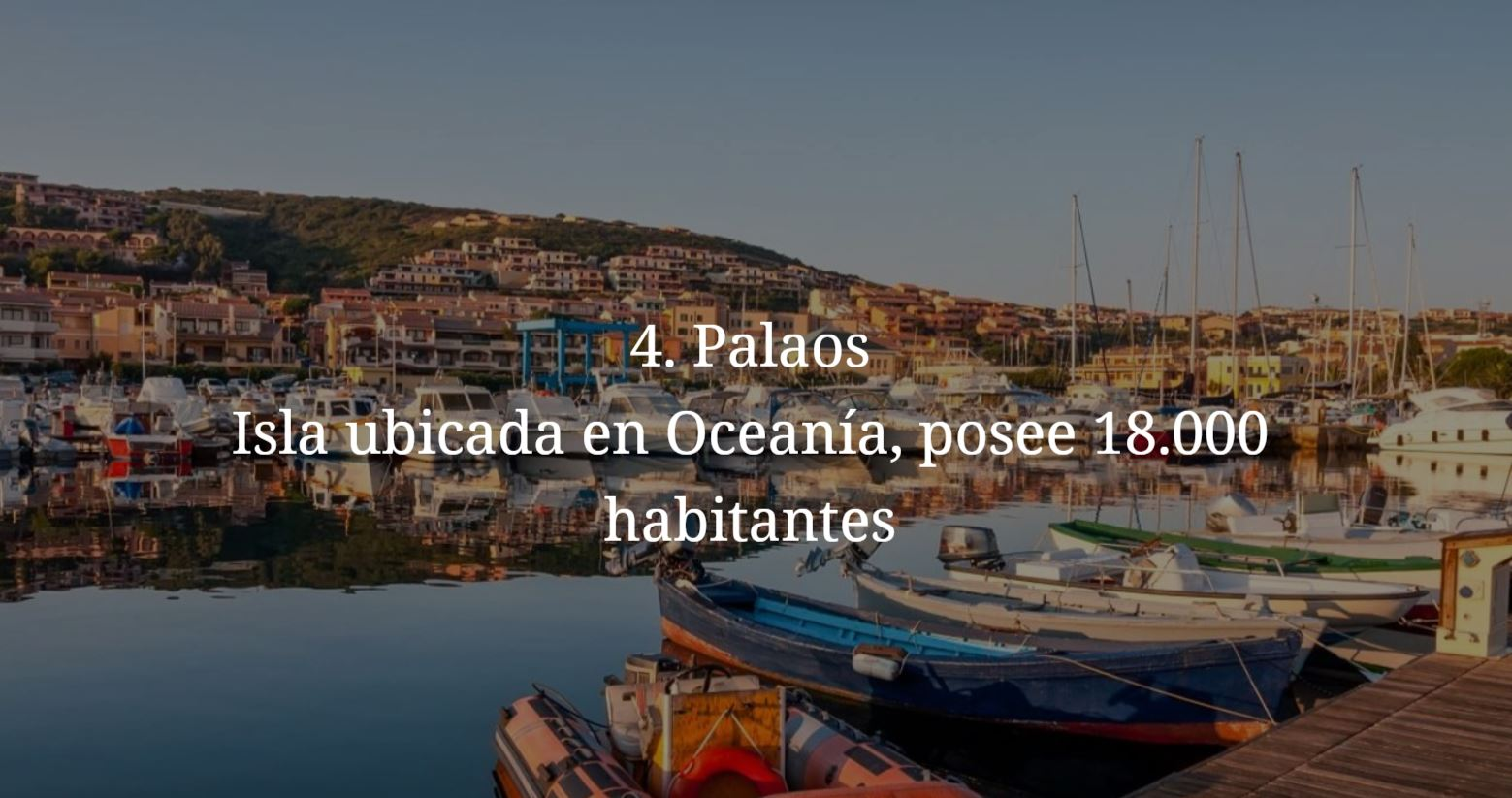 Palaos, paises mas pequeños y menos habitados del mundo