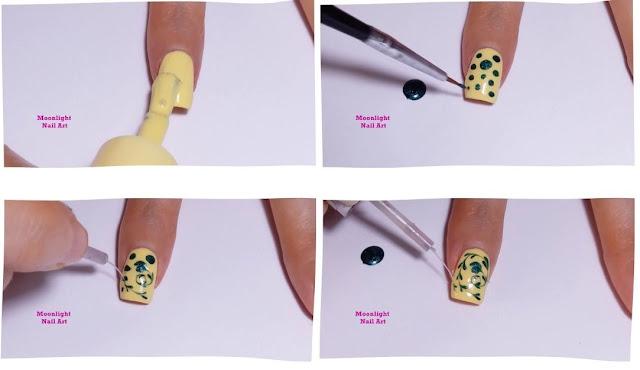 Green & Yellow Drag marble Nail Design Tutorial