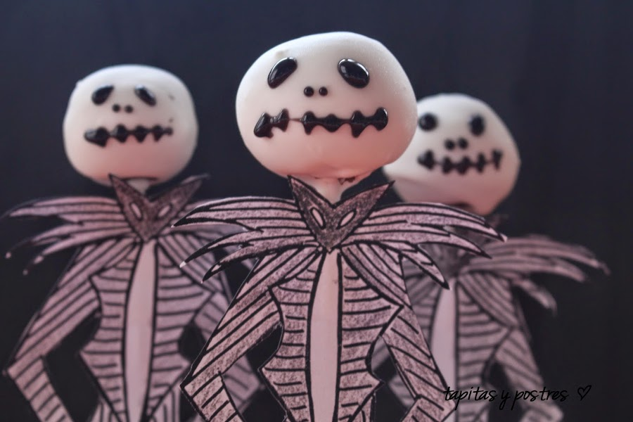 Cake pops Jack Skellington