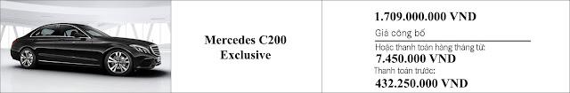 Giá xe Mercedes C200 Exclusive 2019 tại Mercedes Trường Chinh