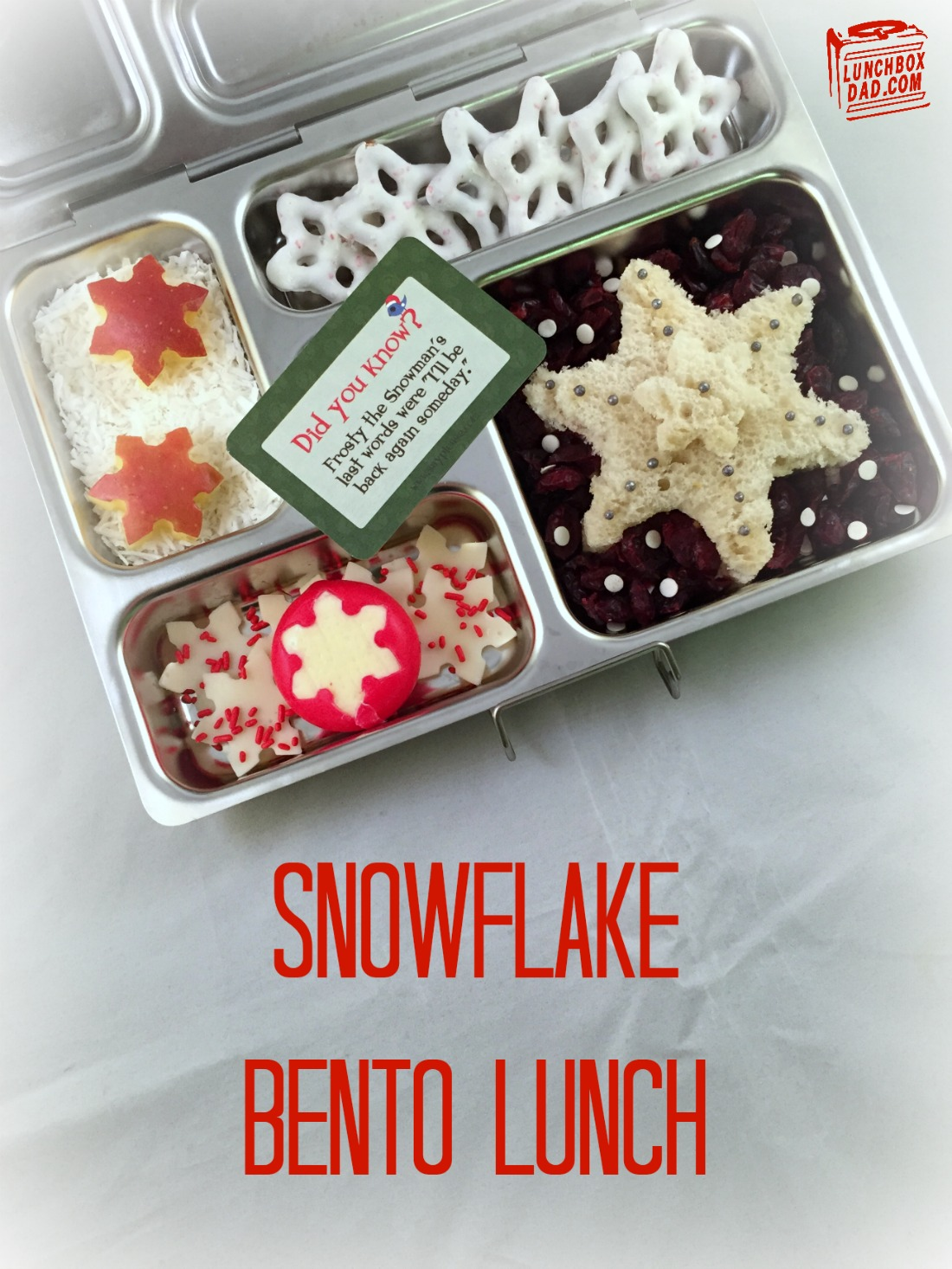 Christmas Snowflake Bento Lunch