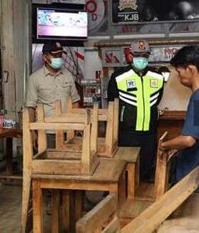 Kapolres Kota Madiun Tindak Tegas Pengunjung dan Pelaku Usaha Yang Langgar Aturan Physical Distancing