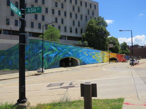 Akron Quaker Street mural