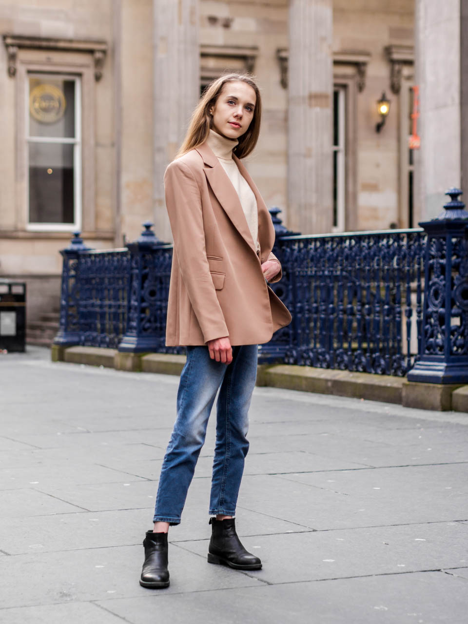Autumn fashion: blazer+ turtleneck jumper - Syysmuoti: bleiseri ja pooloneule