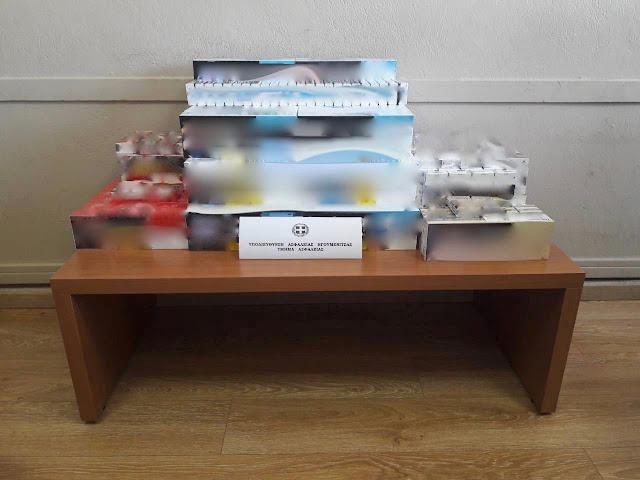 """Αστυνομικοί της Ασφάλειας Ηγουμενίτσας """"ξετρύπωσαν"""" 891 πακέτα λαθραίων τσιγάρων στην Πάργα"""