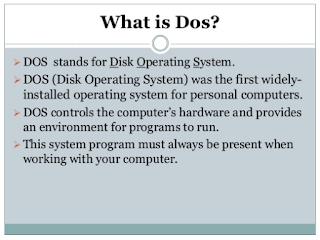 Pengertian Sistem Operasi DOS