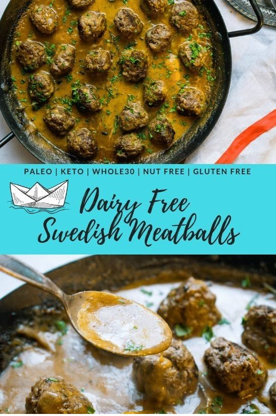 Dairy Free Swedish Meatballs