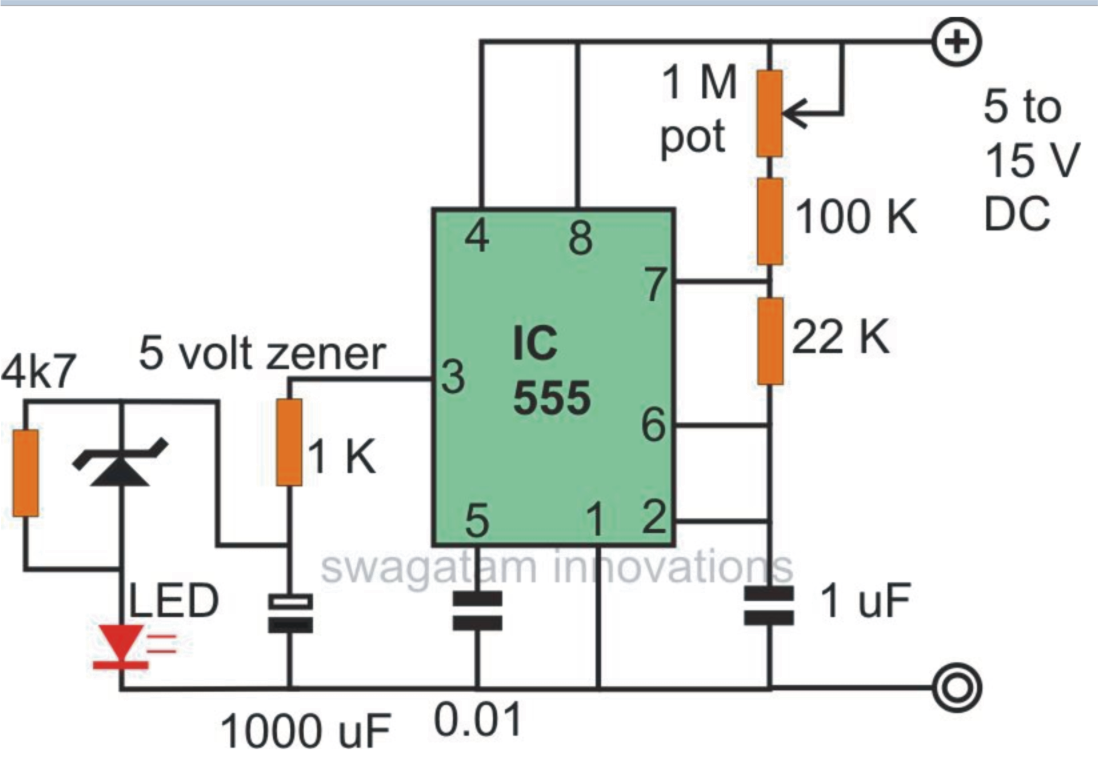 Flasher Wiring Diagram 12v Ar 15 Lower Assembly Flaher And Fader Led Using Ne555 Electronic Engineer