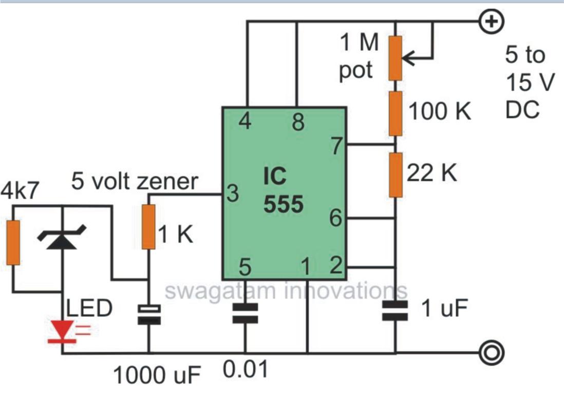 Pulsing Led Circuit Diagram Best Secret Wiring Controlledtimer 555circuit Seekiccom Flaher And Fader Using Ne555 Electronic Engineer Breathing Flickering