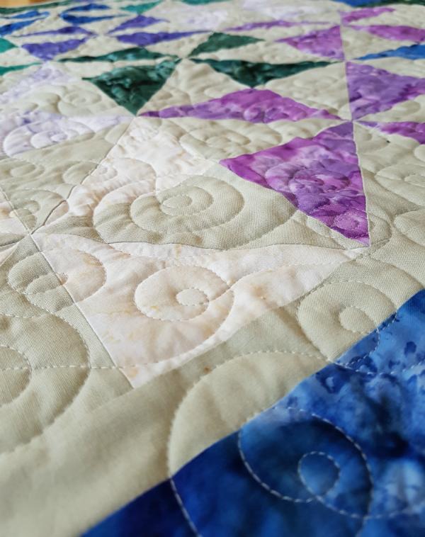 Pinwheel Square baby quilt | DevotedQuilter.blogspot.com