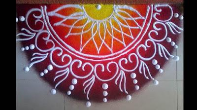 BIG RANGOLI DESIGN FOR DIWALI