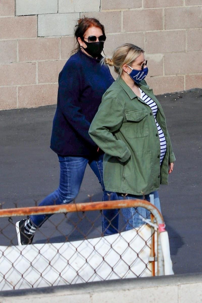 Pregnant Emma Roberts Outside  in Los Feliz  23 Dec-2020