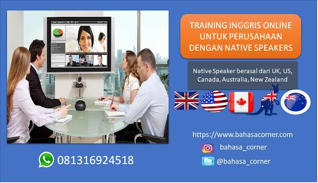 iklan Training Inggris Online bahasacorner.com