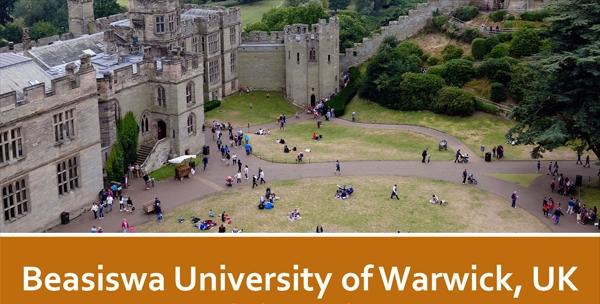 Beasiswa Doktor 2018 University of Warwick, UK