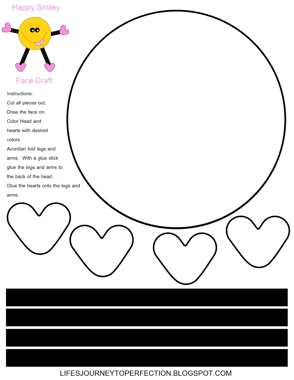 Life S Journey To Perfection Smiley Face Valentine S Day Craft Printable